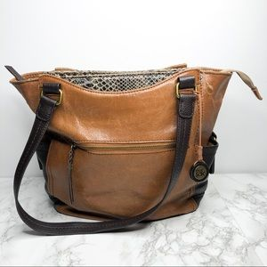 The Sak Brown Leather Kendra Tote Bag